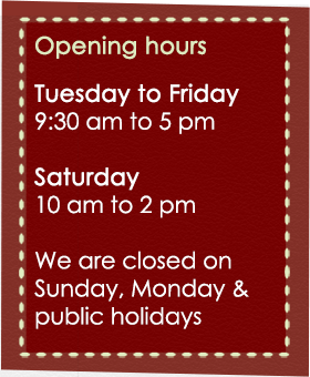 opening hours Cranberry Crafts